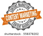 content marketing. stamp.... | Shutterstock .eps vector #558378202
