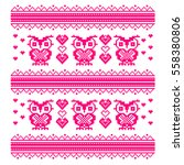 pink embroidery pattern for... | Shutterstock .eps vector #558380806