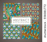 set of four vector intricate... | Shutterstock .eps vector #558381772