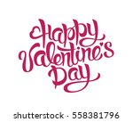 happy valentines day hand... | Shutterstock .eps vector #558381796