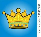 vector illustration of golden... | Shutterstock .eps vector #558382432