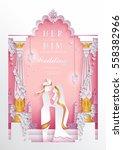 indian wedding invitation card... | Shutterstock .eps vector #558382966