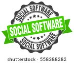 social software. stamp. sticker.... | Shutterstock .eps vector #558388282
