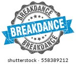 breakdance. stamp. sticker.... | Shutterstock .eps vector #558389212