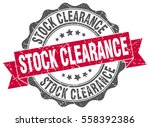 stock clearance. stamp. sticker.... | Shutterstock .eps vector #558392386