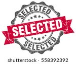 selected. stamp. sticker. seal. ... | Shutterstock .eps vector #558392392