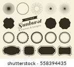 collection of hand drawn retro... | Shutterstock .eps vector #558394435