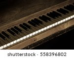 Vintage Old Piano With Keys Fo...