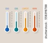 temperature measurement from...   Shutterstock .eps vector #558398788