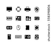 computer hardware  hdd memory ... | Shutterstock .eps vector #558398806