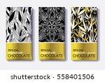 vector set of golden chocolate... | Shutterstock .eps vector #558401506