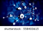 social network background .... | Shutterstock . vector #558403615