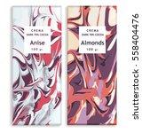 chocolate packaging swirls...   Shutterstock .eps vector #558404476