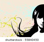 vector girl | Shutterstock .eps vector #55840450