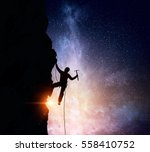 extreme climbing is his... | Shutterstock . vector #558410752