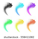 abstract colored vector... | Shutterstock .eps vector #558411082