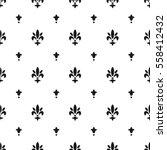 fleur de lis pattern ... | Shutterstock .eps vector #558412432
