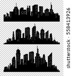 set of silhouette city... | Shutterstock .eps vector #558413926