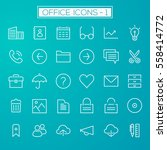 inline office icons collection | Shutterstock .eps vector #558414772