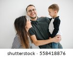 young hipster father  mother...   Shutterstock . vector #558418876