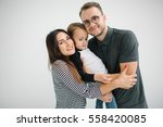 young hipster father  mother... | Shutterstock . vector #558420085
