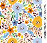 Beauty Seamless Floral Pattern...