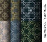 set of seamless vintage... | Shutterstock .eps vector #558425086