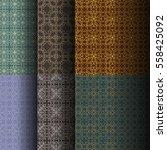 set of seamless vintage... | Shutterstock .eps vector #558425092