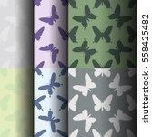 symmetrical pattern of random... | Shutterstock .eps vector #558425482