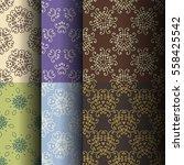 set of seamless vintage... | Shutterstock .eps vector #558425542