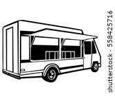 street food truck vector... | Shutterstock .eps vector #558425716