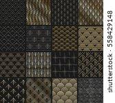 big vector set of seamless... | Shutterstock .eps vector #558429148