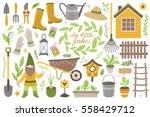 vector set of scrapbook... | Shutterstock .eps vector #558429712