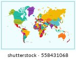 world map with country name | Shutterstock .eps vector #558431068