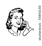 lady chatting on the phone  ... | Shutterstock .eps vector #55843150