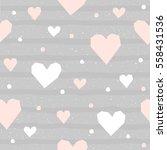 abstract heart seamless pattern ... | Shutterstock .eps vector #558431536