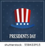 presidents day poster with hat... | Shutterstock .eps vector #558433915