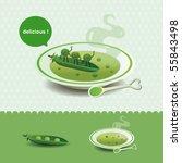 pea soup | Shutterstock .eps vector #55843498