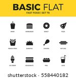 basic set of hamburger form ... | Shutterstock .eps vector #558440182