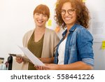 shot of two businesswoman... | Shutterstock . vector #558441226