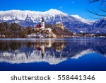 travel slovenia  europe. winter ... | Shutterstock . vector #558441346