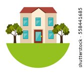 exterior cute house icon | Shutterstock .eps vector #558441685