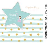 cute template for notebook... | Shutterstock .eps vector #558447748