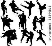 vector illustration of martial... | Shutterstock .eps vector #55844815
