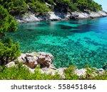 view of adriatic sea bay   Shutterstock . vector #558451846