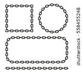 Vector Black And White Chain...