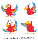 cute parrot cartoon collection... | Shutterstock .eps vector #558463312