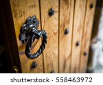 Old Wooden Oak Door