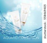 design cosmetics product... | Shutterstock .eps vector #558469405