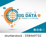 big data concept on target icon ... | Shutterstock .eps vector #558469732